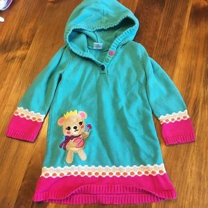 Gymboree hooded sweater dress 3T